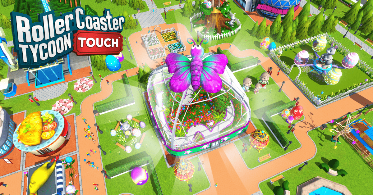 RCT31 Social LegendaryRide Easter Static 1200x628 min - RollerCoaster Tycoon Touch v. 3.4.8 Apk Mod Dinheiro Infinito