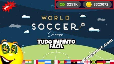 World Futebol Champs dinheiro infinito