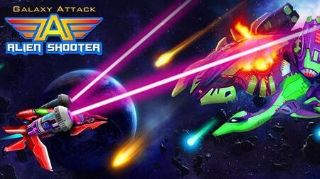 Galaxy Attack Alien Shooter Vip Apk Mod dinheiro infinito