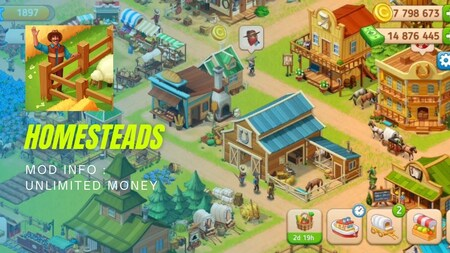 Homesteads Apk Mod Dinheiro Infinito