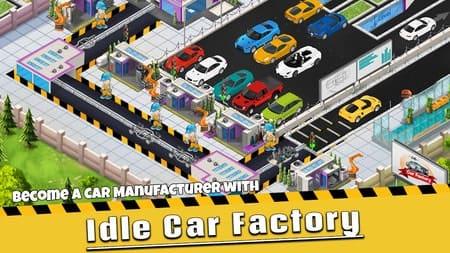 Idle Car Factory Mod Apk Dinheiro Infinito